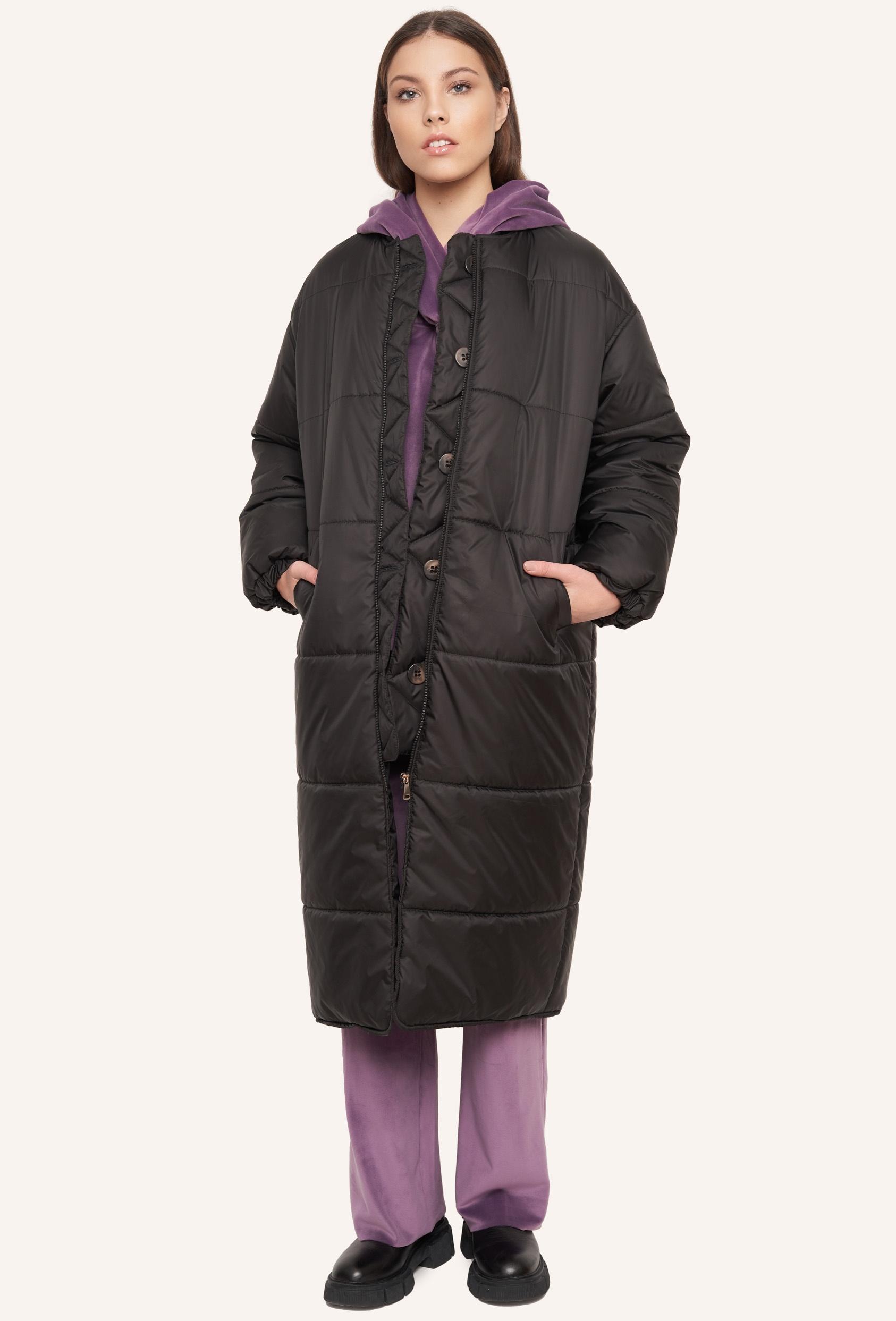 Płaszcz pikowany FLAVIE COAT czarny