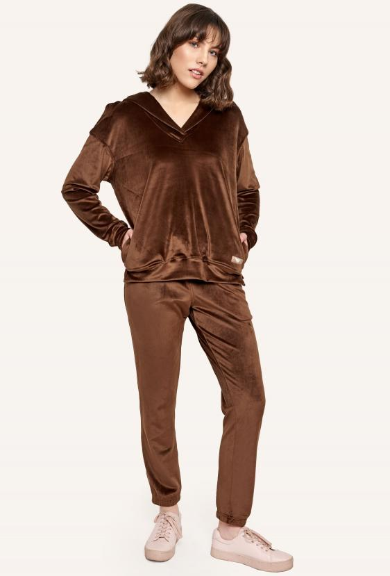Bluza z kapturem MILLIE JUMPER LTD brązowa