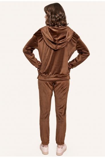 Bluza z kapturem MILLIE JUMPER LTD brązowa_2