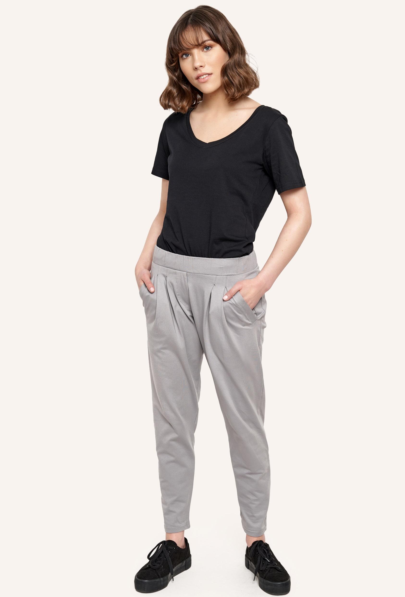 Spodnie bawełniane JUDY PANTS szare