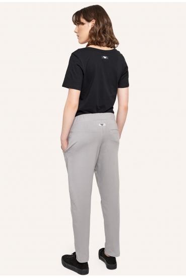 Spodnie bawełniane JUDY PANTS szare_1