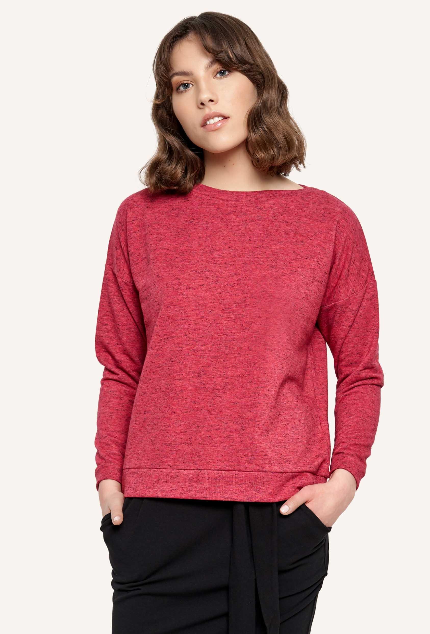 Bluza bez kaptura POPPY BLOUSE czerwona_1