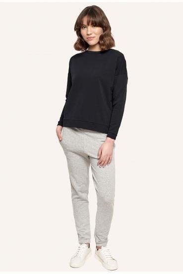 Bluza bez kaptura POPPY BLOUSE czarna_3