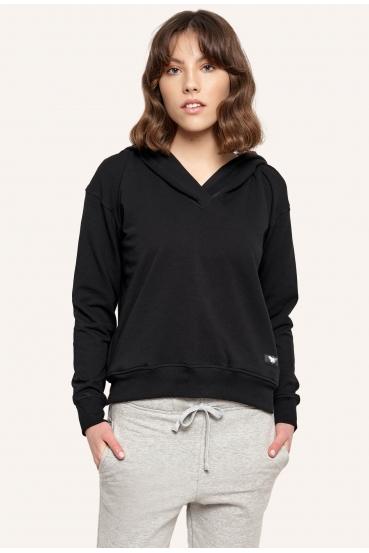 Bluza z kapturem MILLIE JUMPER czarna