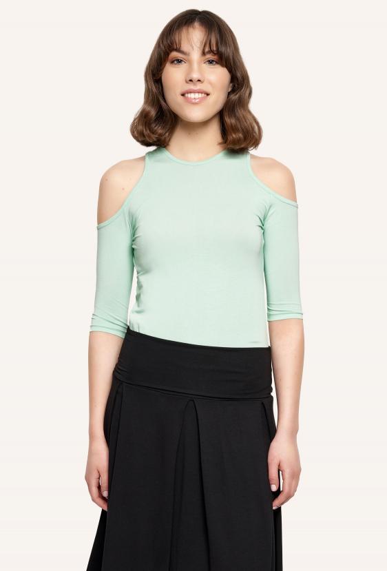 Bluzka dopasowana MIRANDA BLOUSE zielona