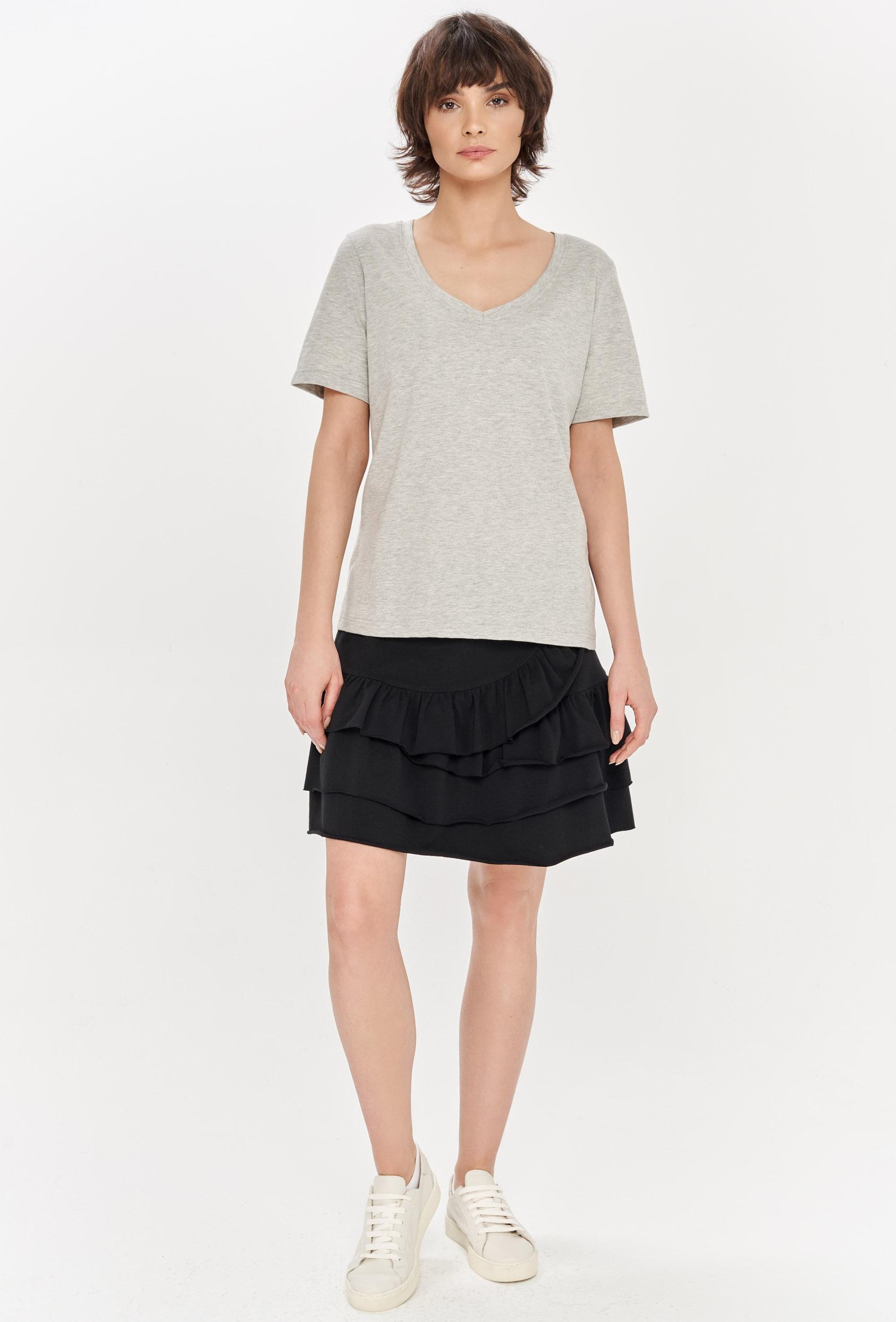 Koszulka prosta ZALIA T-SHIRT szara