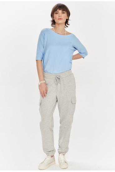 Spodnie bojówki ZAIDA PANTS szare