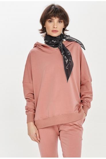 Bluza z kapturem EDEN JUMPER różowa