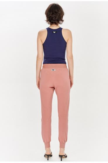 Spodnie bawełniane MADALINE PANTS różowe_1