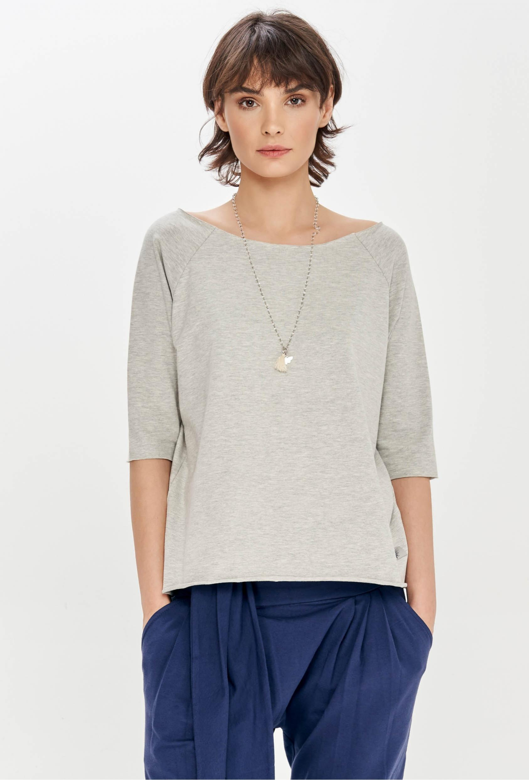 Koszulka prosta OLIVIA T-SHIRT szara