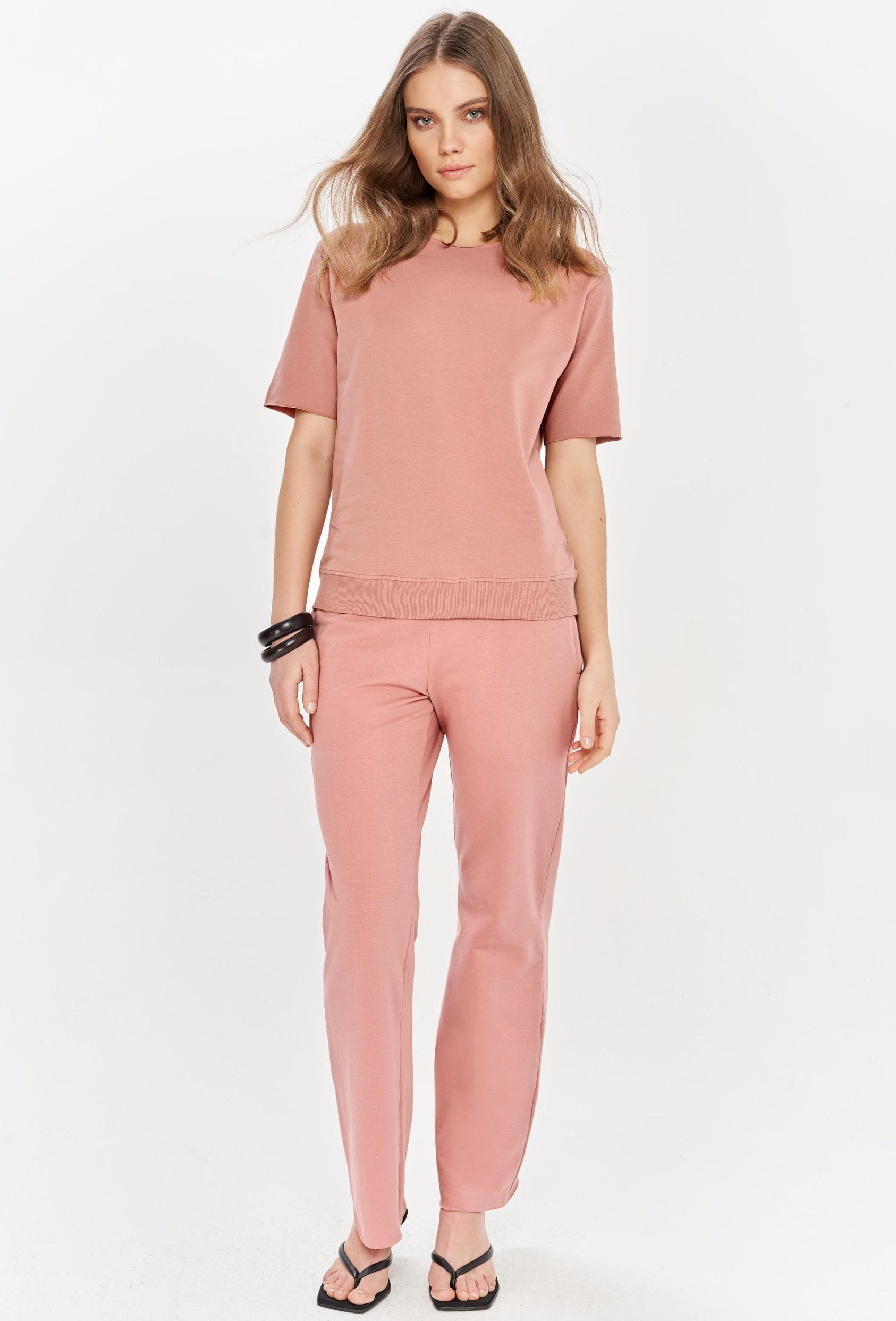 Spodnie bawełniane LUCCA PANTS różowe