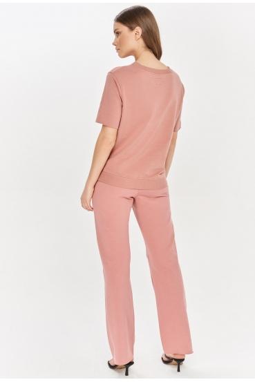 Spodnie bawełniane LUCCA PANTS różowe_1