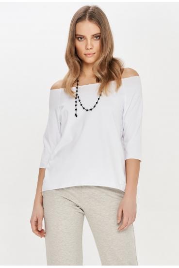 Koszulka prosta OLIVIA T-SHIRT biała