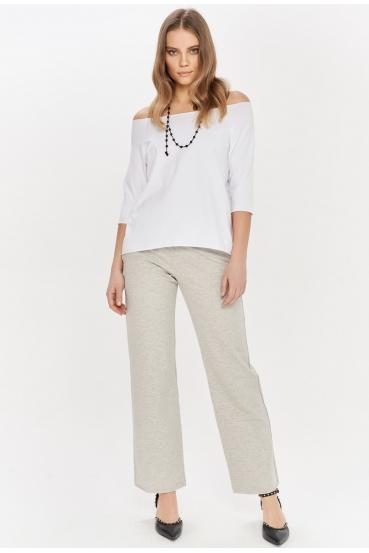 Koszulka prosta OLIVIA T-SHIRT biała_1