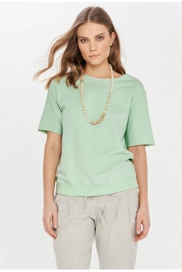 Bluzka z krótkim rękawem GEORGIE BLOUSE 2 zielona