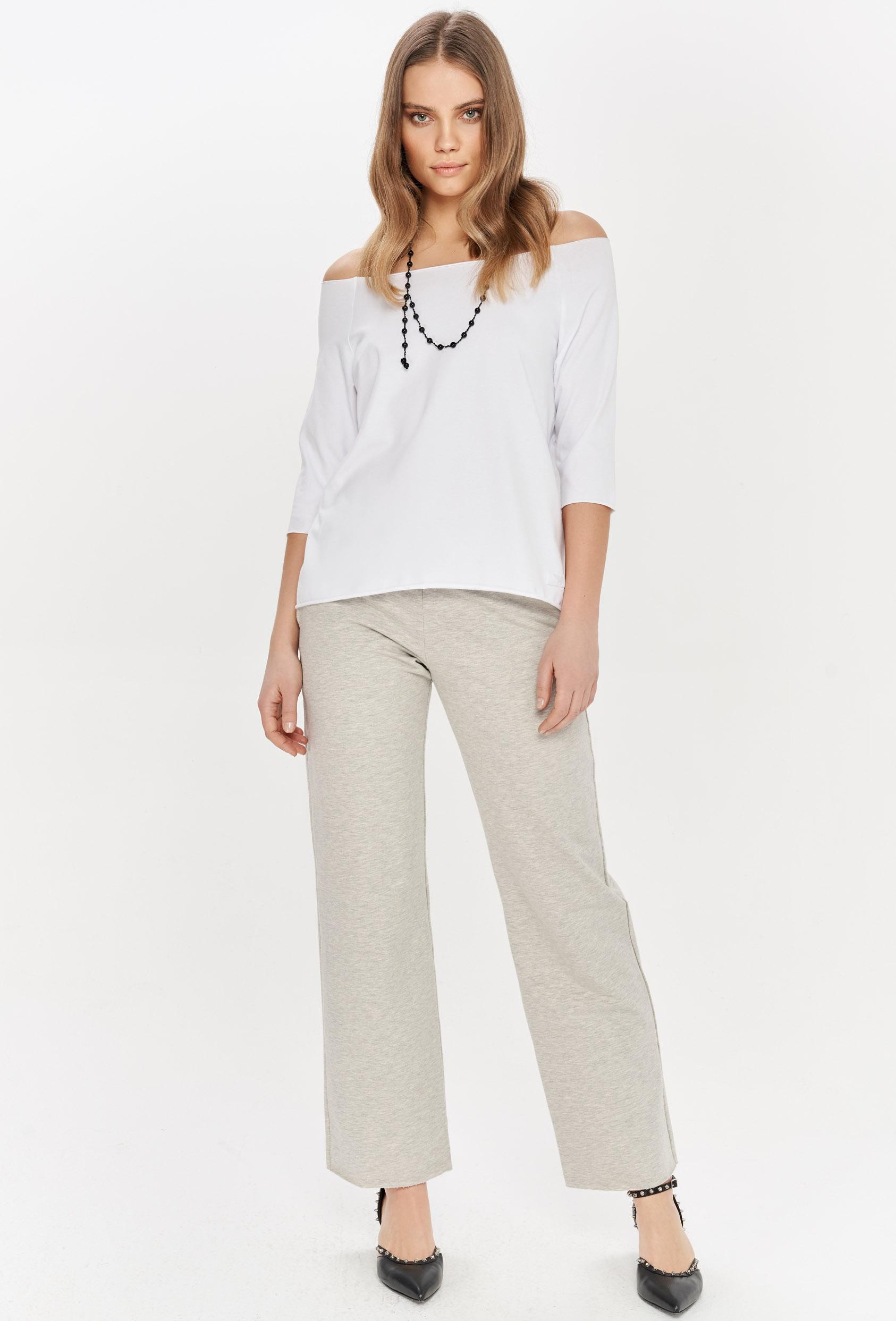 Spodnie bawełniane LUCCA PANTS szare