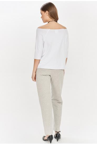 Spodnie bawełniane LUCCA PANTS szare_1