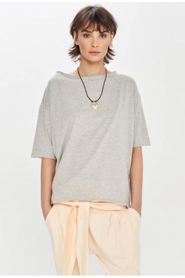 Koszulka oversize MEGAN SUMMER T-SHIRT szara