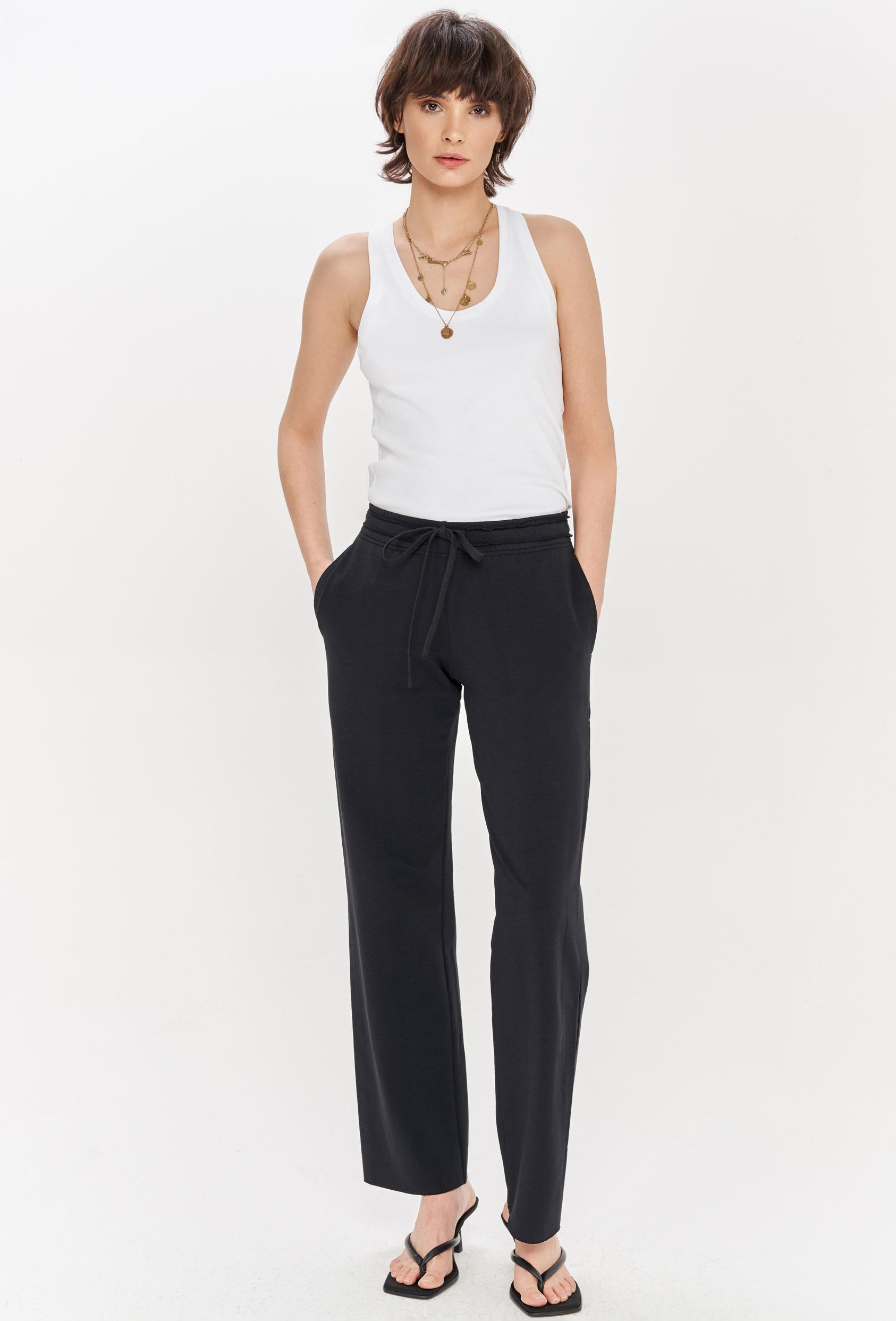 Spodnie bawełniane LUCCA PANTS czarne