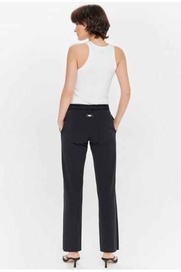Spodnie bawełniane LUCCA PANTS czarne_1