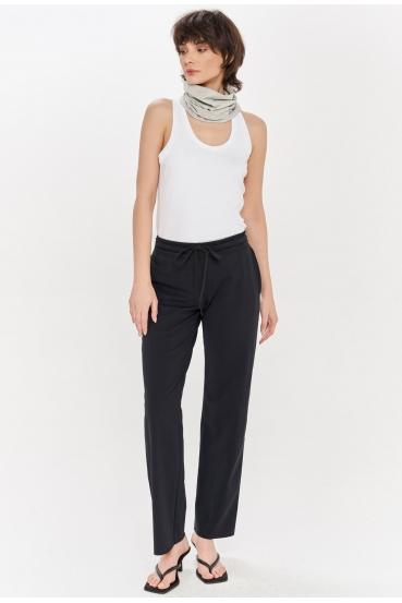 Spodnie bawełniane LUCCA PANTS czarne_3