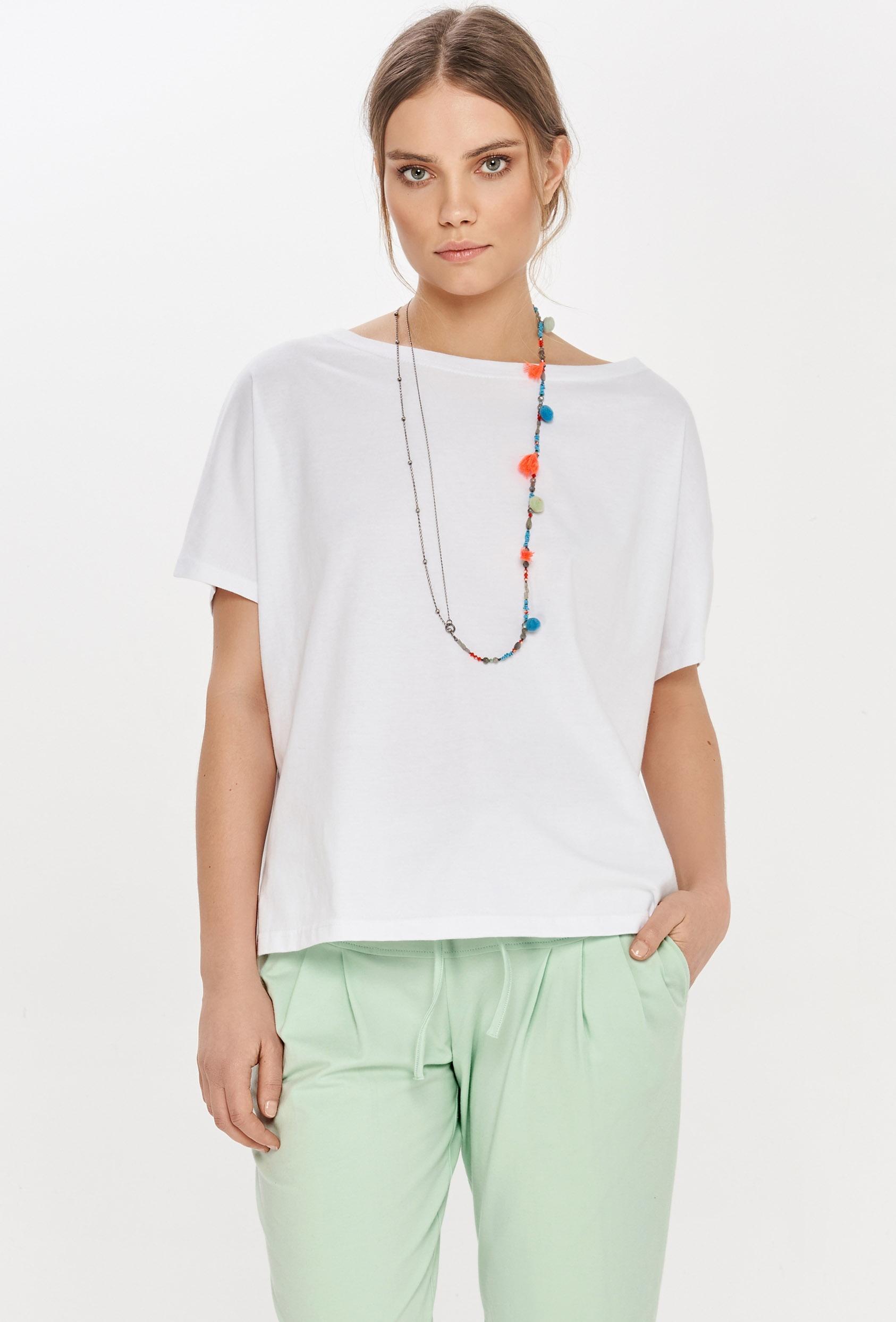 Koszulka oversize NANETTE T-SHIRT biała