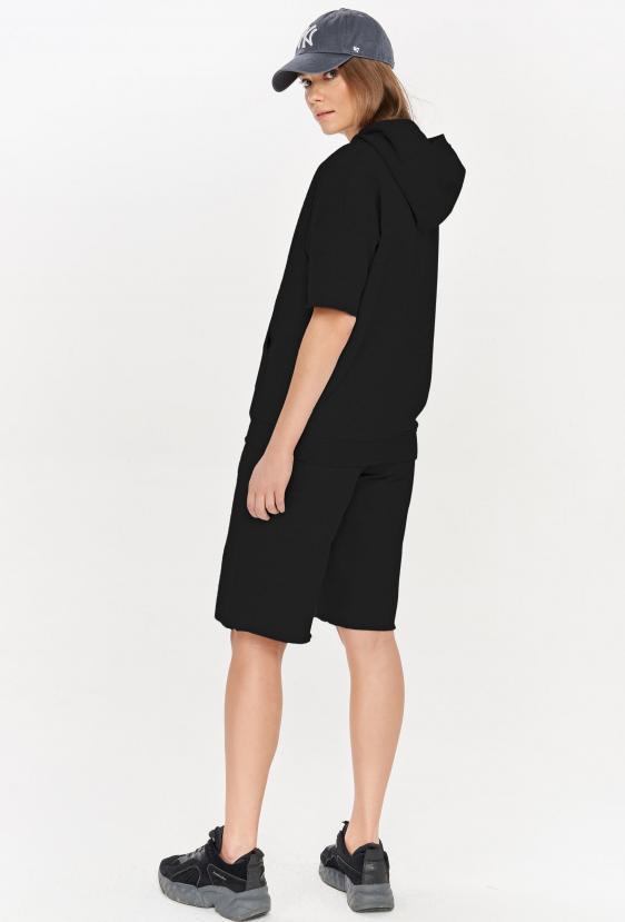 Bluza z kapturem CLEMENCE JUMPER czarna