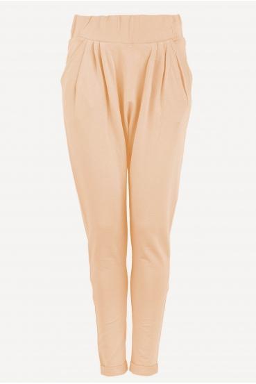 Spodnie bawełniane LALA PANTS 2 beżowe_2
