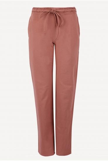 Spodnie bawełniane LUCCA PANTS różowe_2
