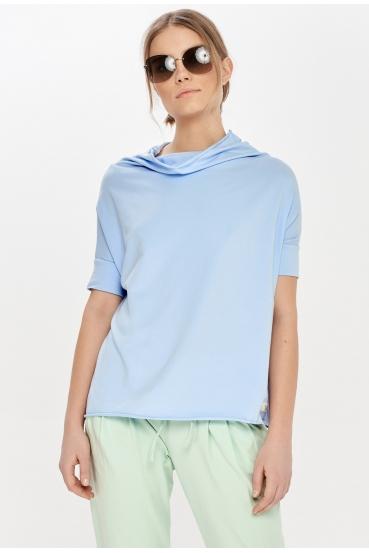 Koszulka oversize FOXY T-SHIRT 2 błękitna