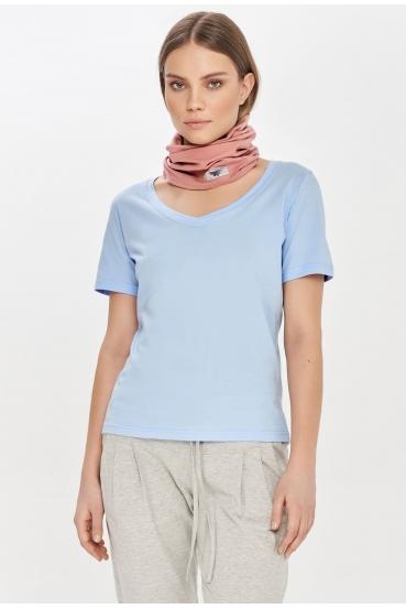 Koszulka prosta ZALIA T-SHIRT błękitna