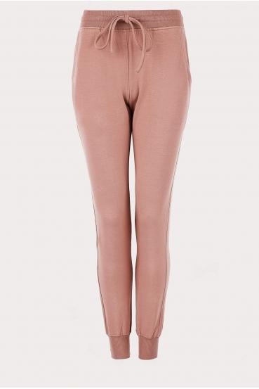 Spodnie bawełniane MADALINE PANTS różowe_2