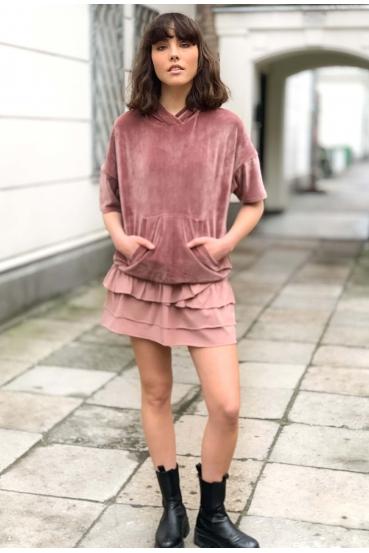 Spódnica mini KLOSS SKIRT różowa_3