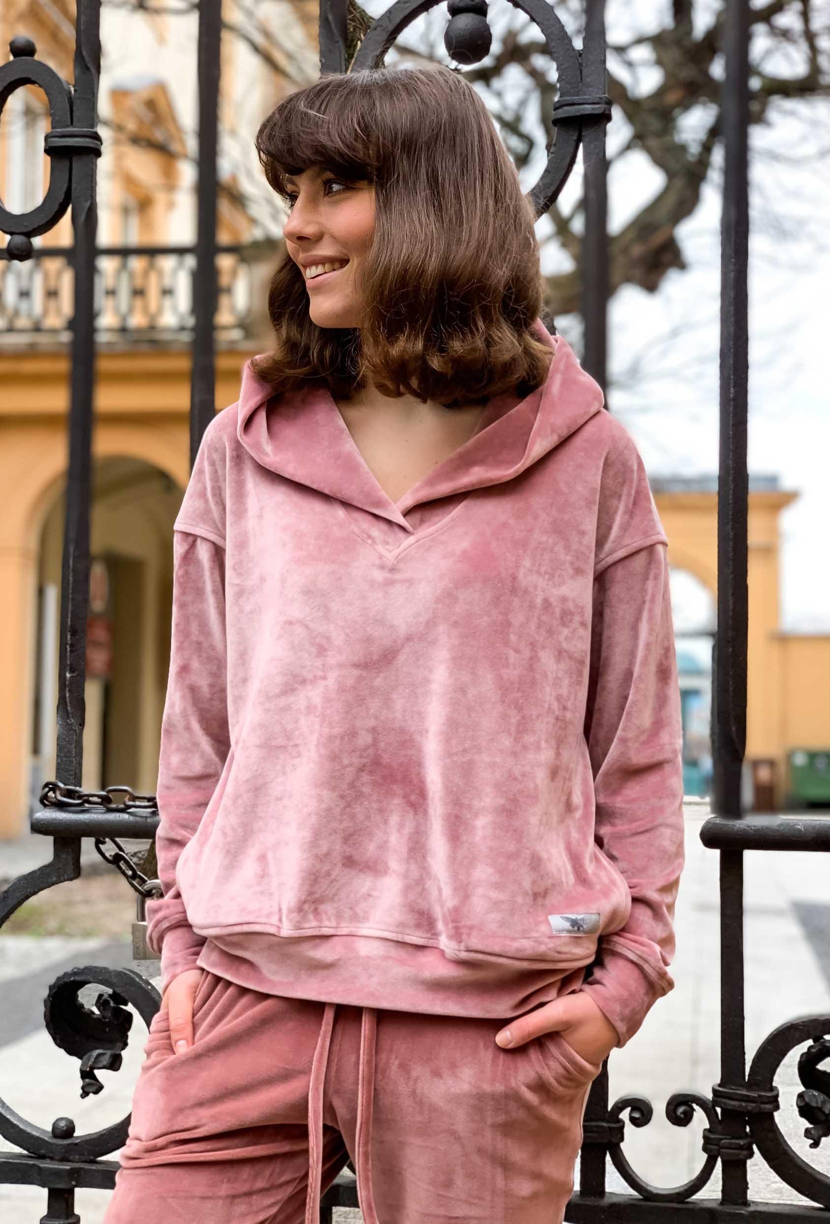 Bluza z kapturem MILLIE JUMPER LTD różowa