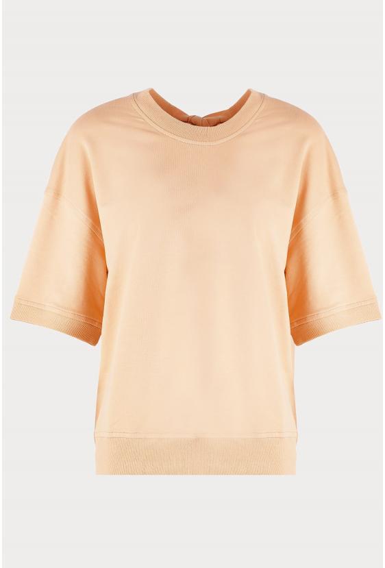 Bluzka z krótkim rękawem CHER BLOUSE beżowa