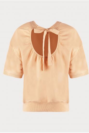 Bluzka z krótkim rękawem CHER BLOUSE beżowa_4