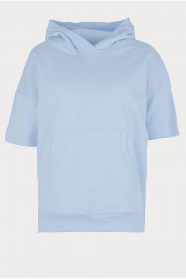 Bluza z kapturem CLEMENCE JUMPER błękitna_3