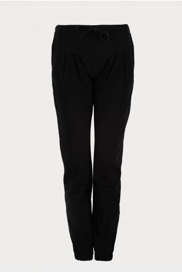 Spodnie bawełniane DELORA PANTS czarne_2
