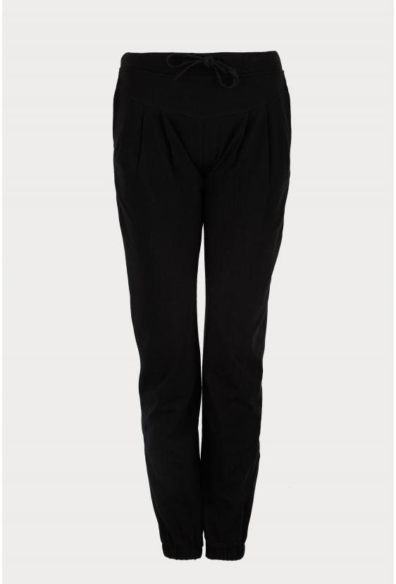 Spodnie bawełniane DELORA PANTS czarne