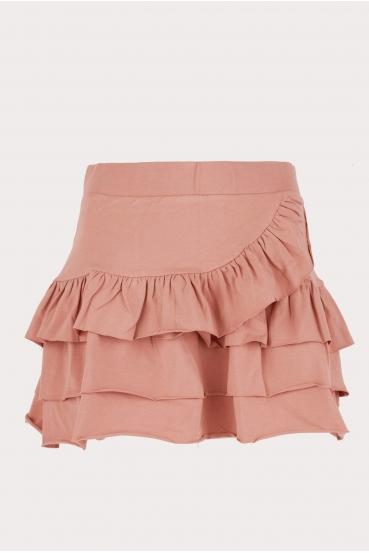 Spódnica mini KLOSS SKIRT różowa_4