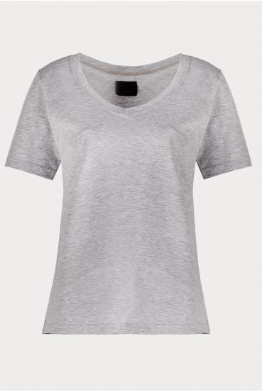 Koszulka prosta ZALIA T-SHIRT szara_2
