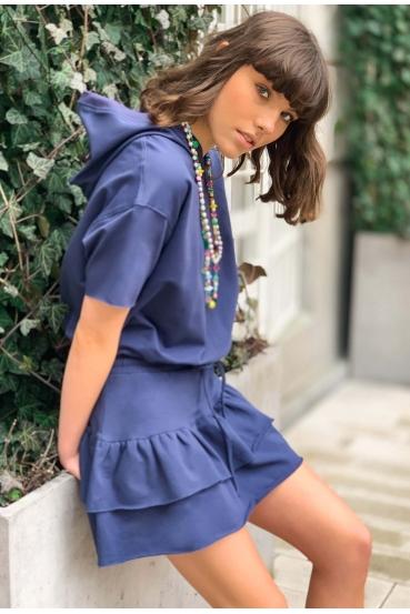 Sukienka mini CARLOTA DRESS granatowa_4