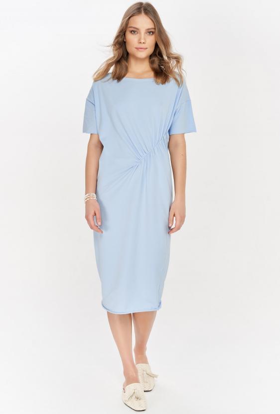 Sukienka midi TANYA DRESS błękitna