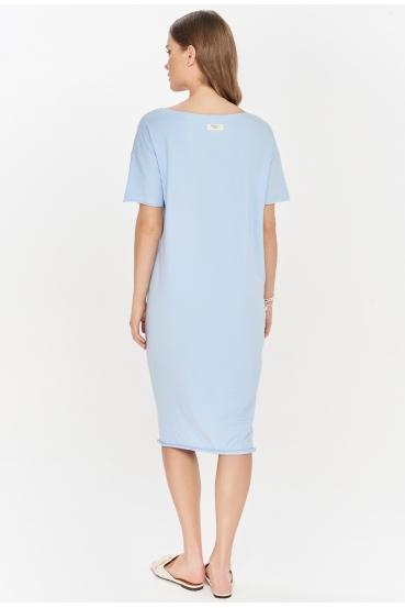 Sukienka midi TANYA DRESS błękitna_2