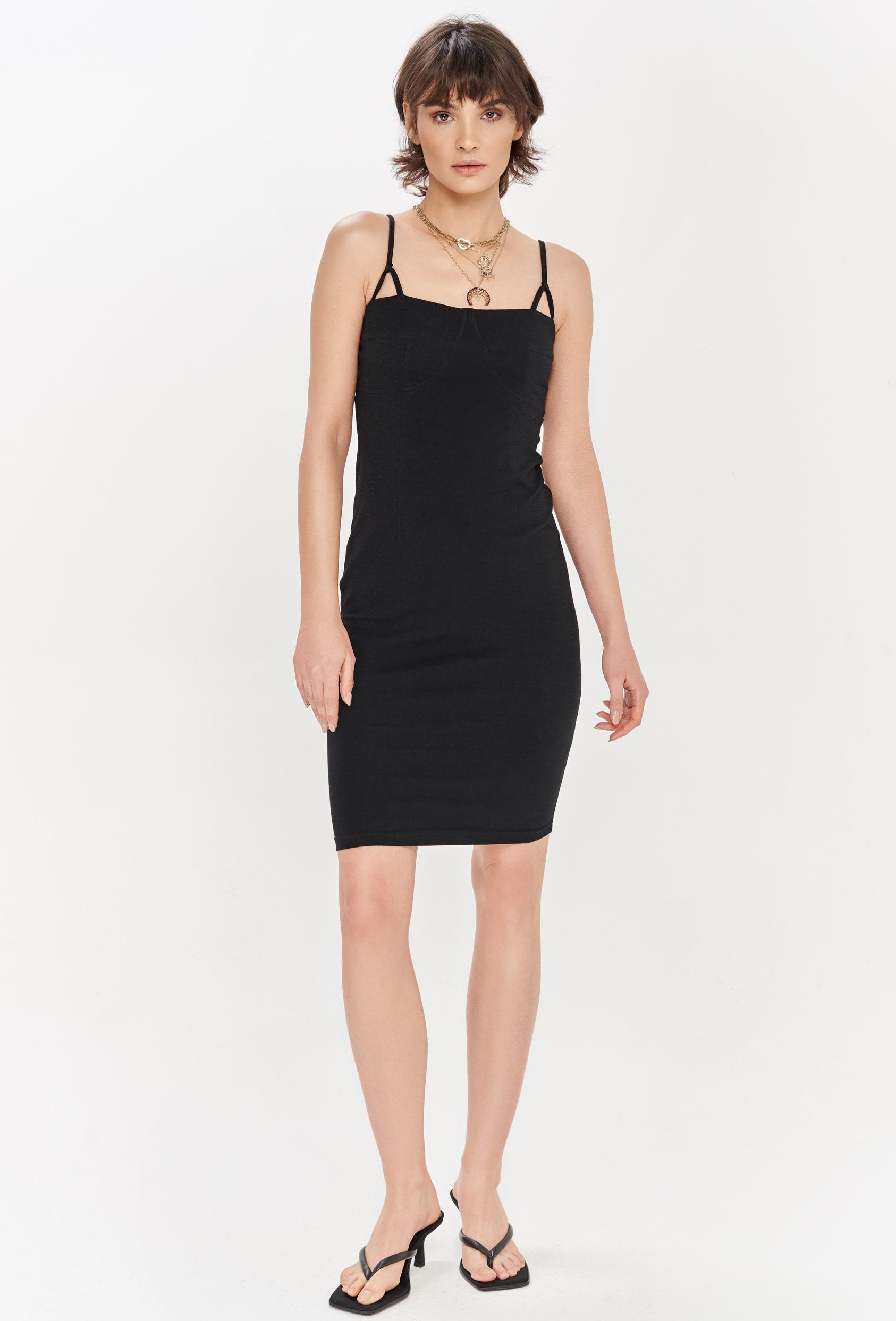 Sukienka mini SAVON DRESS czarna_1