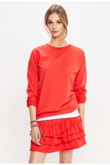 Bluza bez kaptura DAMIA BLOUSE czerwona_1