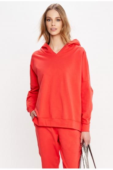 Bluza z kapturem EDEN JUMPER czerwona