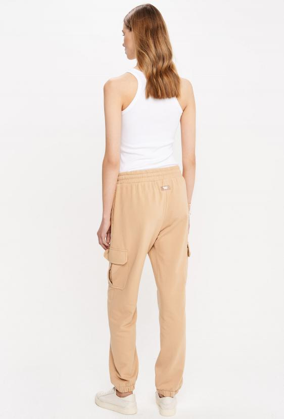 Spodnie bojówki ZAIDA PANTS beżowa