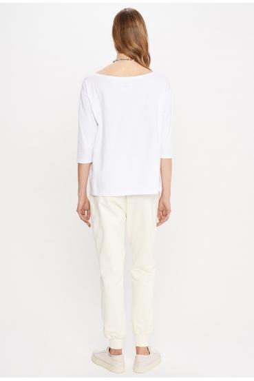 """Spodnie bawełniane MADALINE PANTS """"BY I"""" żółte_1"""