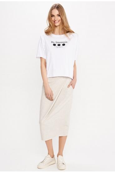 "Koszulka oversize MEGAN T-SHIRT 2 ""COLLAB"" biała_1"
